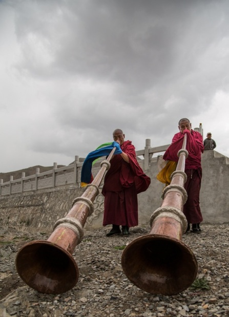 Horn washing, Gansu