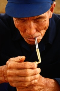 Man with pipe, Yunnan