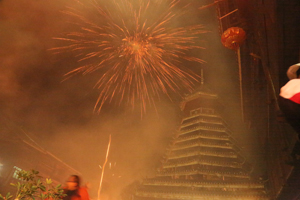 Fireworks in Zhaoxing