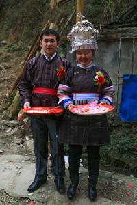 Dong wedding couple in Guizhou