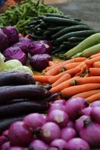Vegetables in Dali Market