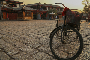 Bicycles in Lijiang's Main Square