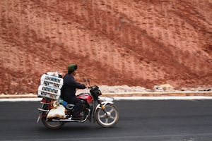 Motorbike & Red Earth