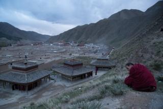 Labrang Monastery at dusk, Xiahe