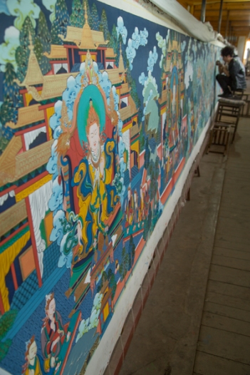 A ginormous thangka, Tongren
