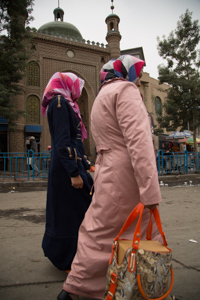 Shoppers in Khotan