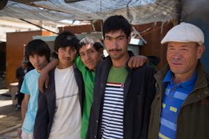 Young men in Yarkand
