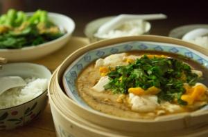 Tofu with Salty Egg Yolk © Jo James