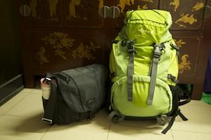 13kg of luggage