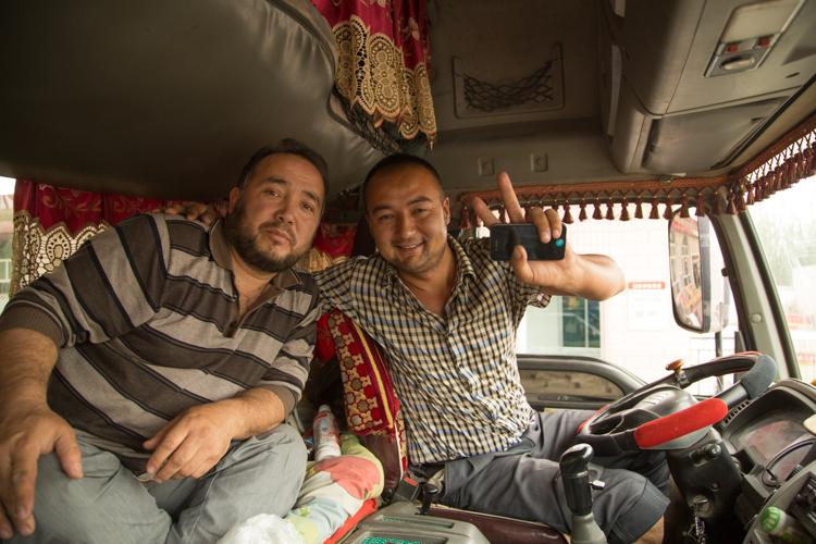 Truckers, Lake Karakul