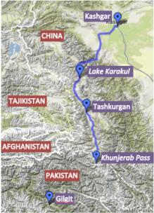 Karakoram Highway Map
