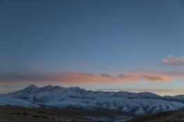 Sunset over the Trola Mountains, outside Ganzi