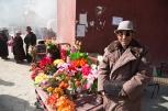 Flower seller, Jana Mani, Yushu