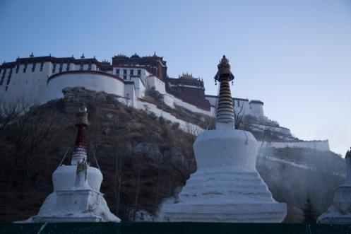 Behind the Potala Palace, Lhasa