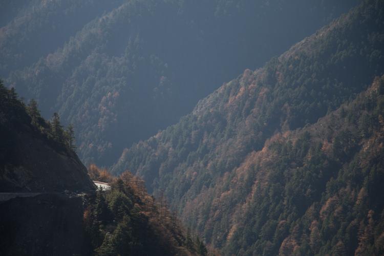 Road on Balangshan, Sichuan