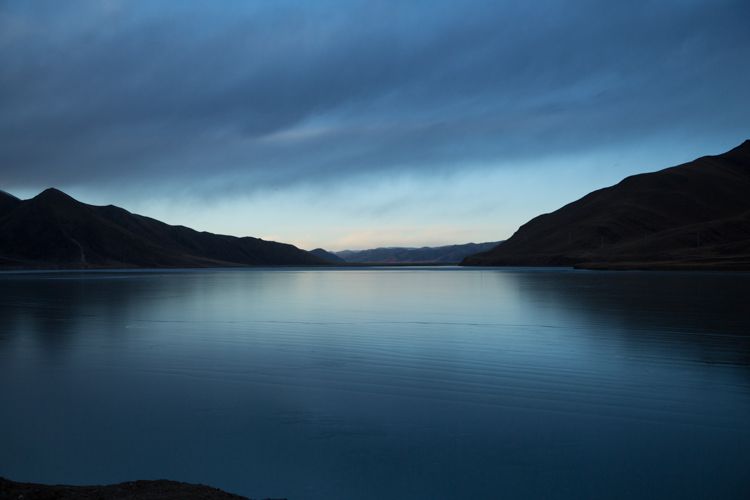Frozen lake at dusk, Shiqu, Sichuan © Jo James