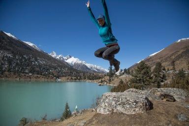Getting air, Yilhun La-tso, Sichuan