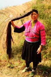 Yao lady (hair down), Longji © Jo James