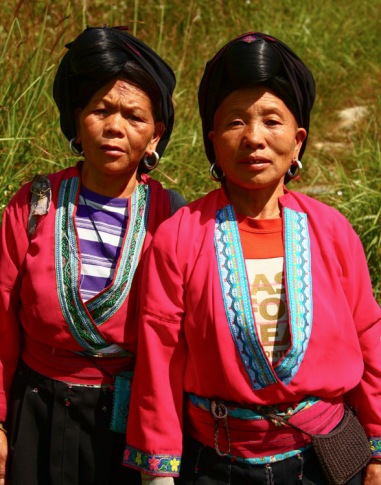 Yao ladies (hair up), Longji © Jo James