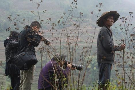 Photographers and onlooker, Yunnan