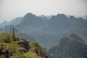 Mount Zwegabin, near Hpa-An