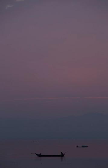 Indawgyi, dusk