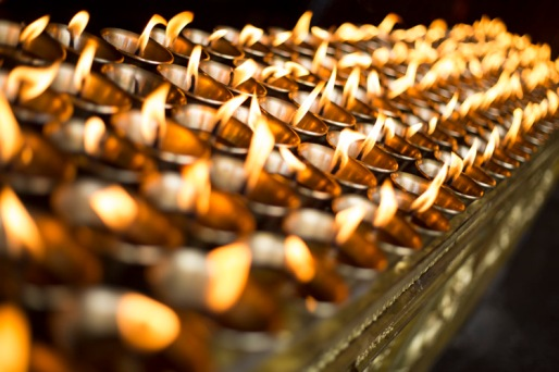 Butter lamps, Lhasa