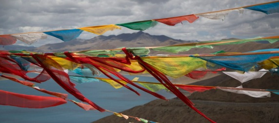 Prayer flags 1, Yamdrok-tso