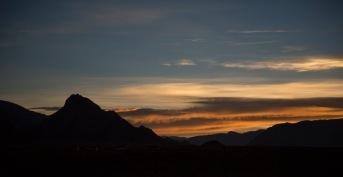 Himalayan sunset, near Tingri