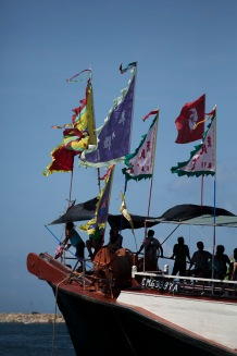 Flags and silhouettes