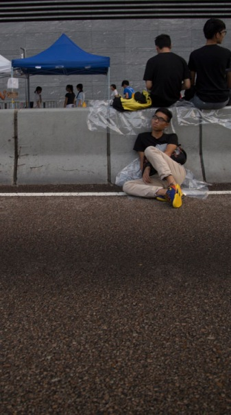 Sleeping protester
