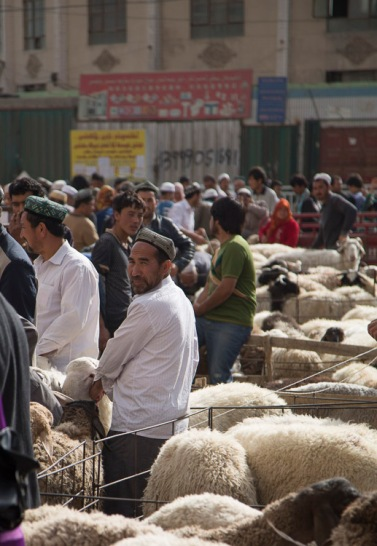 Market day, Khotan