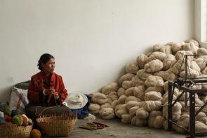 Carpet factory workshop, Shigatse, Tibet