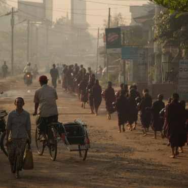Monks in Bago